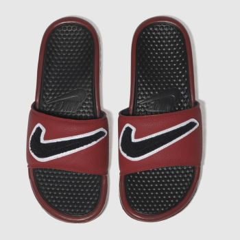 Nike Navy & Red BENASSI Sandals