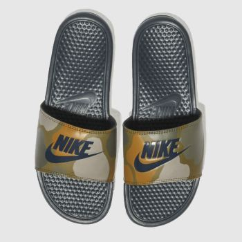 Nike Khaki Benassi Slide Mens Sandals