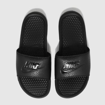 nike black benassi slide sandals
