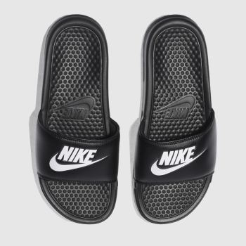 Nike Black & White Benassi Slide c2namevalue::Mens Sandals