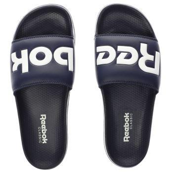 mens navy reebok classic slide sandals  03675c43d
