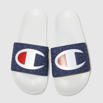 champion navy & white multi-lido sandals