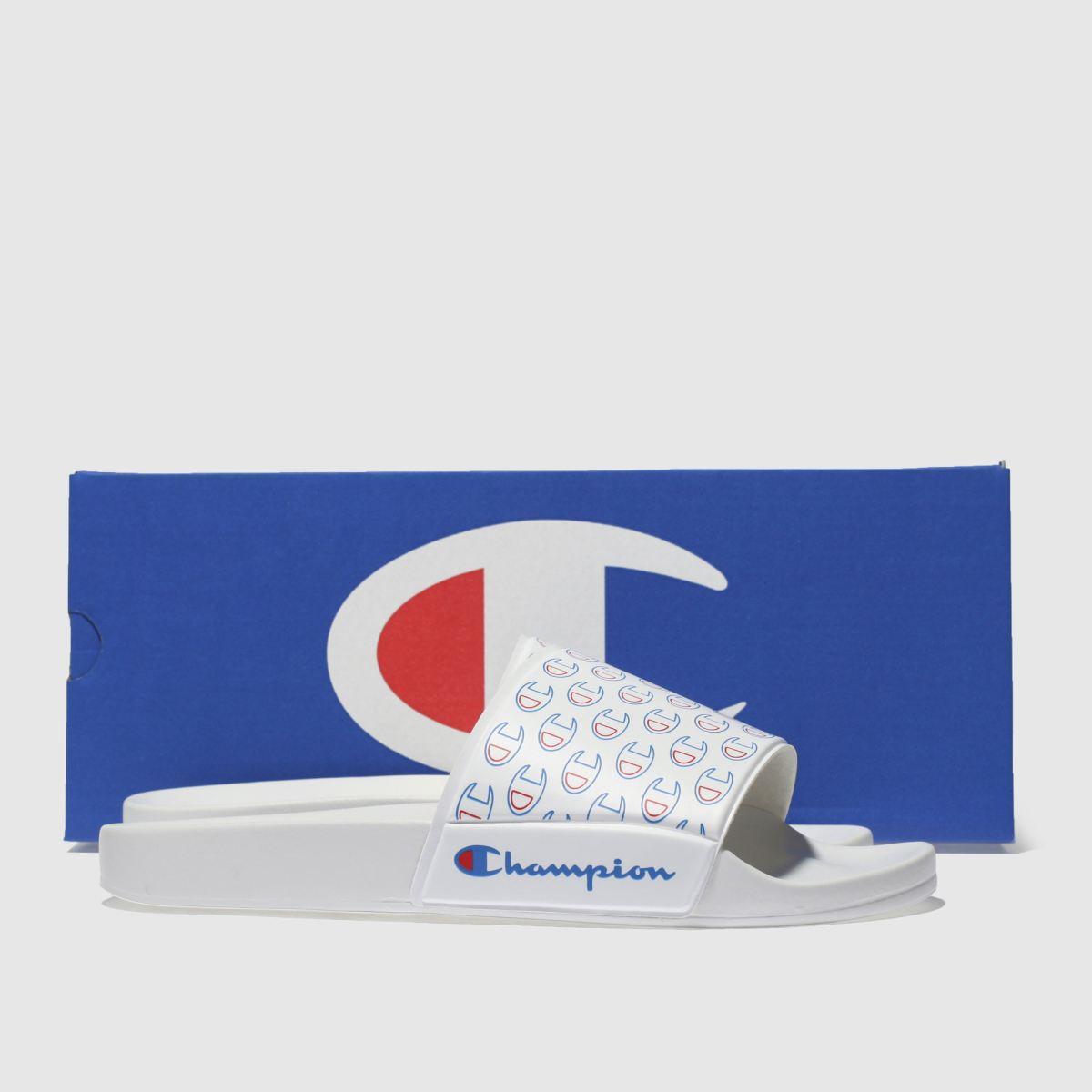 Herren Weiß-blau champion Multi-lido Allover Sandalen | Schuhe schuh Gute Qualität beliebte Schuhe | 7b9685