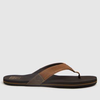 Reef Tan Newport Mens Sandals