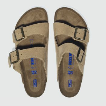 Birkenstock Stone Arizona Suede Mens Sandals