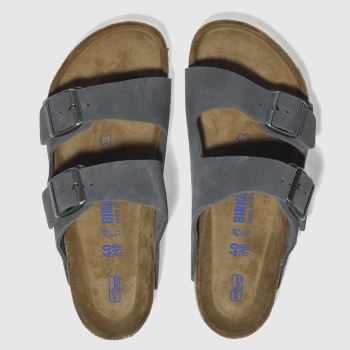 Birkenstock Grey BIRK ARIZONA SUEDE Sandals