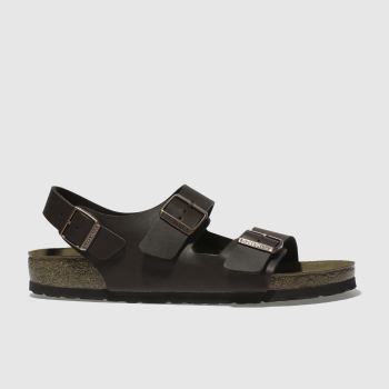 BIRKENSTOCK Brown Milano Mens Sandals