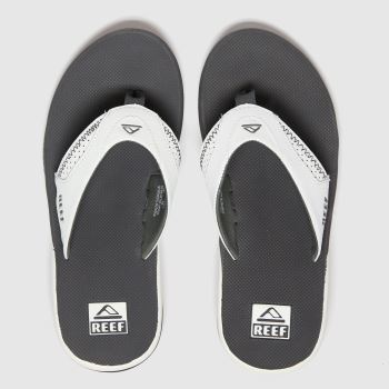 Reef White & grey Fanning c2namevalue::Mens Sandals