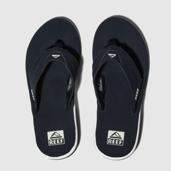Reef Navy & White Fanning Mens Sandals