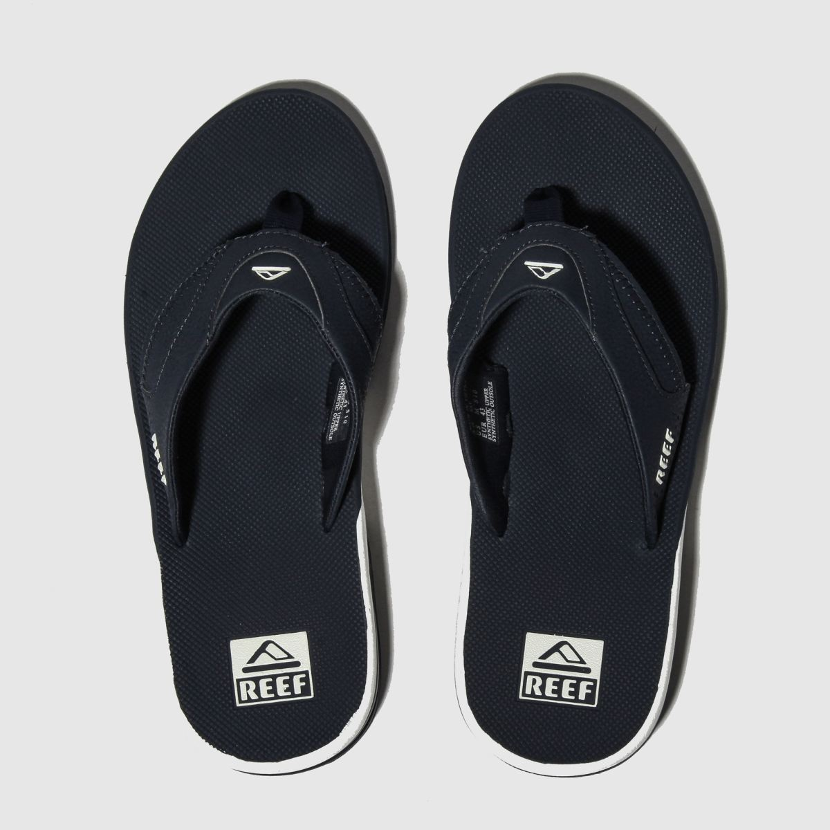 Reef Navy & White Fanning Sandals