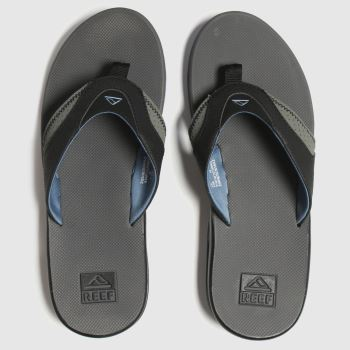 Reef Grey Fanning Mens Sandals