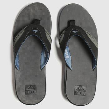 Reef Grey Fanning c2namevalue::Mens Sandals