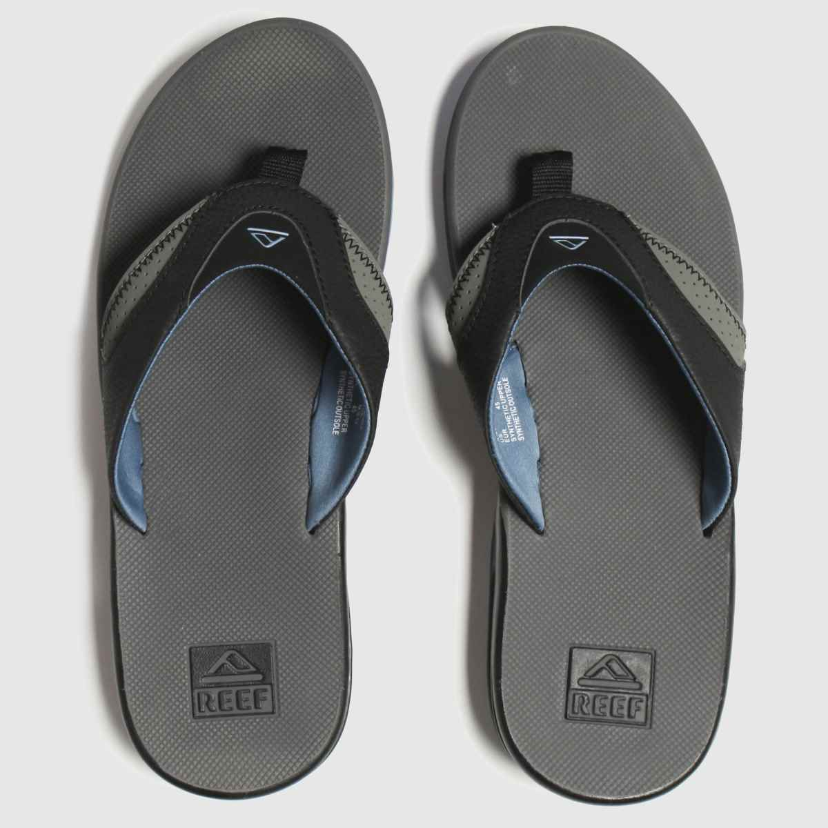 Reef Grey Fanning Sandals