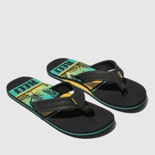58f724215d70 mens black and blue reef waters sandals