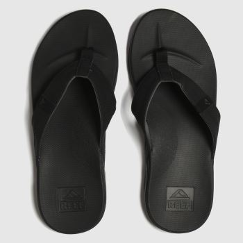 Reef Black Cushion Bounce Phantom c2namevalue::Mens Sandals
