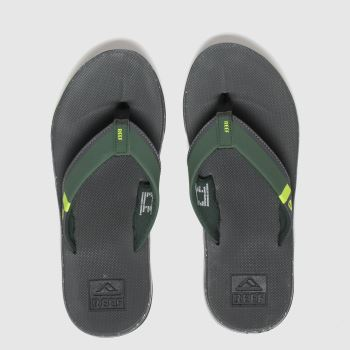 Reef Grey & Lime Fanning Low Mens Sandals