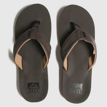 Reef Brown Twinpin Lux c2namevalue::Mens Sandals