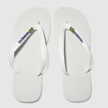 Havaianas White Brasil Logo c2namevalue::Mens Sandals