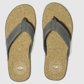 Ugg Grey Seaside Flip Mens Sandals