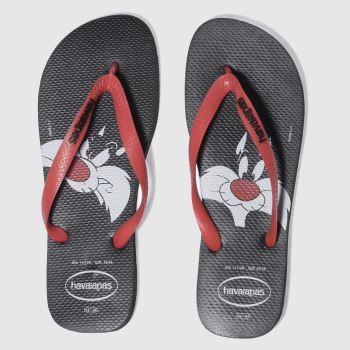 HAVAIANAS BLACK & RED LOONEY TUNES SANDALS
