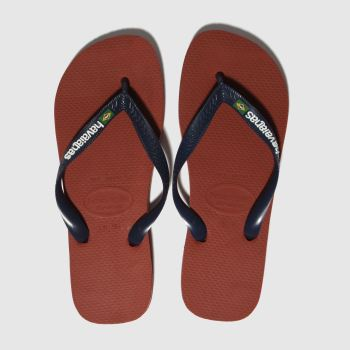 Havaianas Red Brasil Logo Mens Sandals