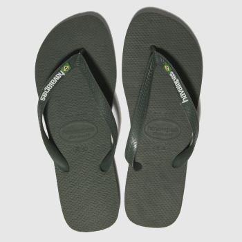 6a305751f104d Havaianas Khaki Brasil Logo Mens Sandals
