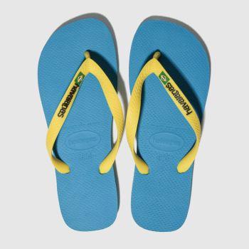 ccd9e5046 Havaianas Blue Brasil Logo Mens Sandals