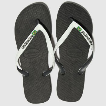 Havaianas Black & White Brasil Mix Mens Sandals