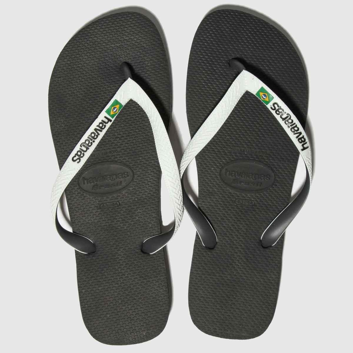 Havaianas Black & White Brasil Mix Sandals