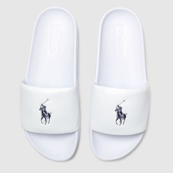 POLO RALPH LAUREN White & Navy Cayson Mens Sandals