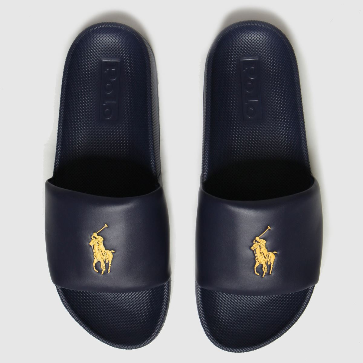 Polo Ralph Lauren Navy & Gold Cayson Sandals