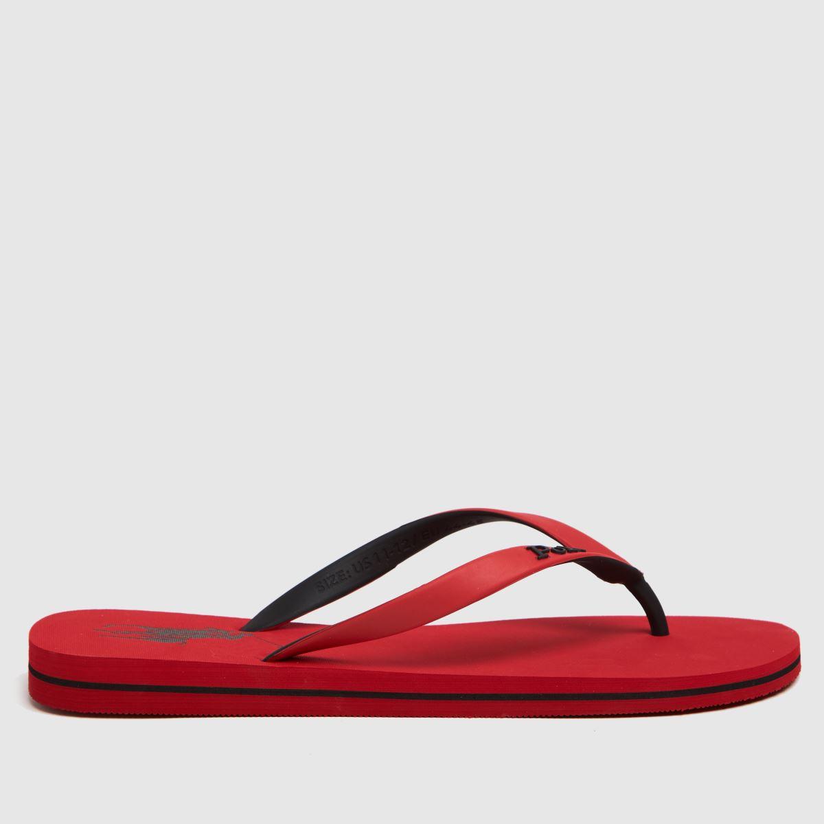 Polo Ralph Lauren Red Bolt Sandals