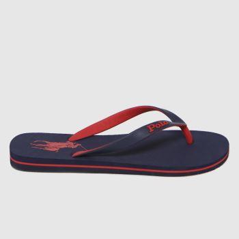 Polo Ralph Lauren Navy & Red Bolt Mens Sandals