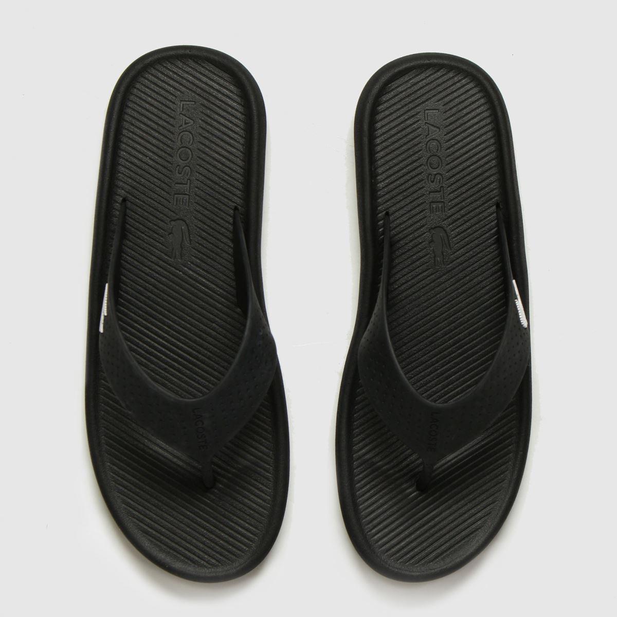 Lacoste Black Croc Sandals