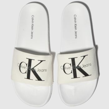 Calvin Klein White & Black Viggo c2namevalue::Mens Sandals