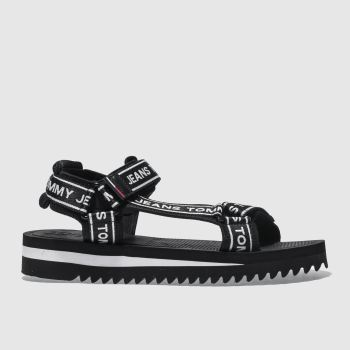 Tommy Hilfiger Black & White Tj Technical Mens Sandals