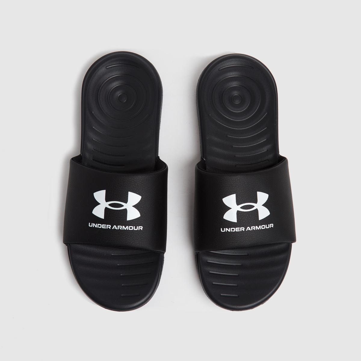 Under Armour Black M Ansa Fix Slide Sandals