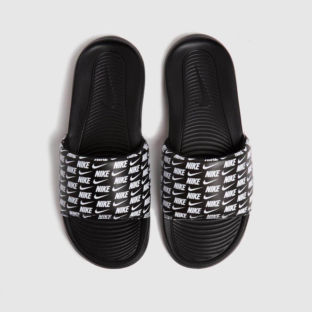 Nike Black & White Victori One Sandals