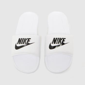 Nike White & Black Victori One Mens Sandals