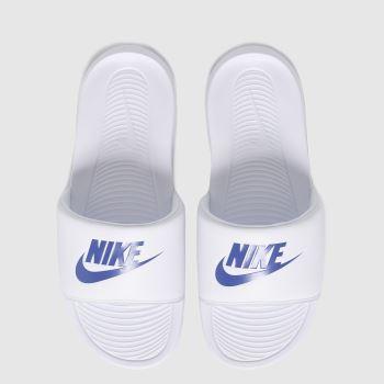 Nike White & Blue Victori One Mens Sandals