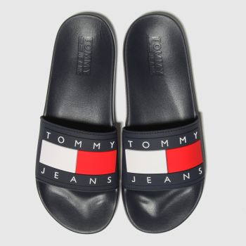 Tommy Hilfiger Navy & Red Tj Flag Pool Slide Mens Sandals