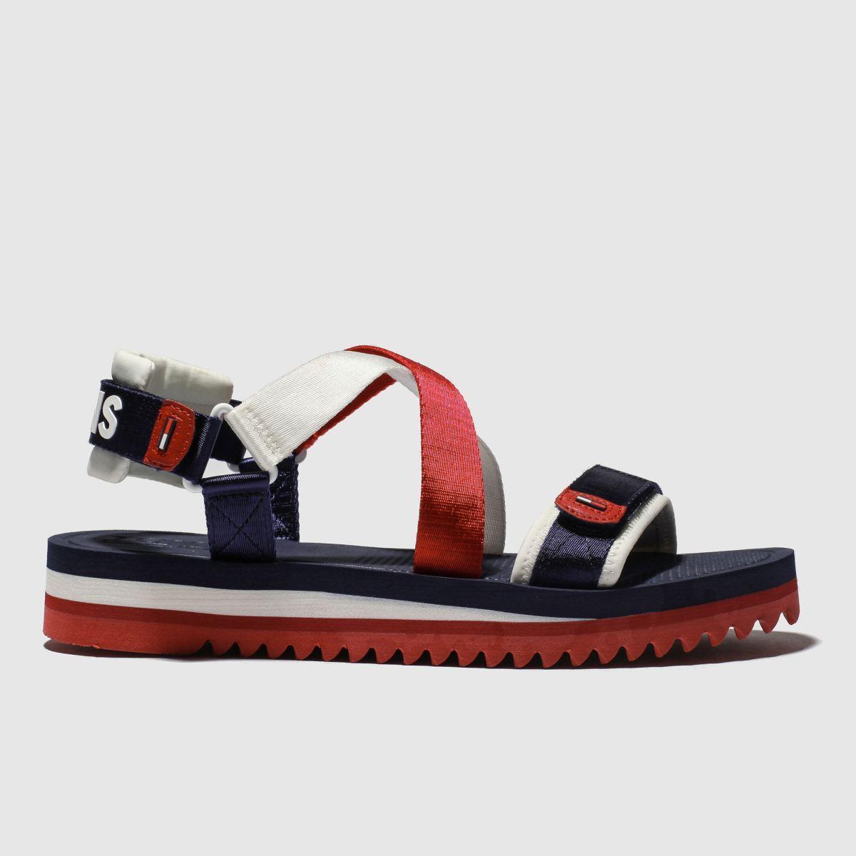 Tommy Hilfiger Navy & Red Tj Strap Sandal Sandals