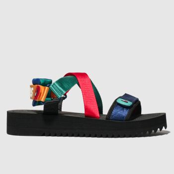 Tommy Hilfiger Blue & Green Tj Strap Mens Sandals
