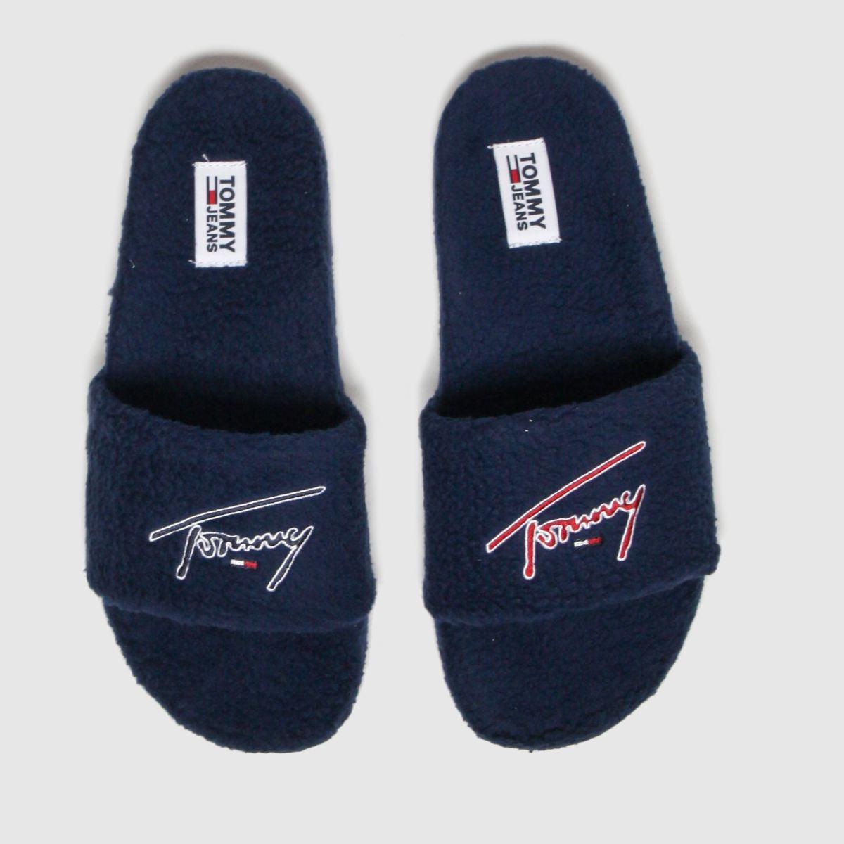Tommy Hilfiger Navy Tj Signature Teddy Slide Sandals