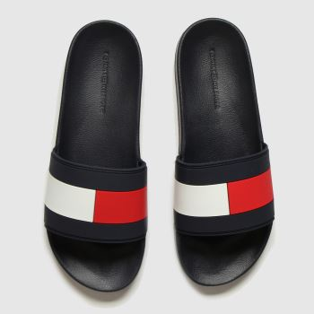 Tommy Hilfiger Navy & Red Essential Flag Pool Slide Sandals