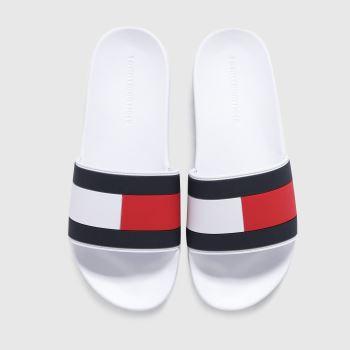 Tommy Hilfiger White Flag Pool Slide Mens Sandals