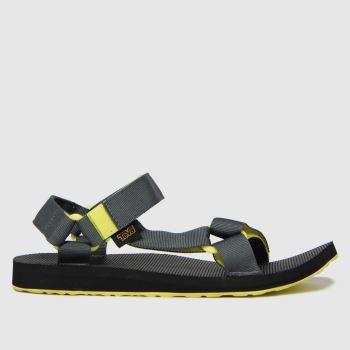 Teva Black & Grey Original Universal Mens Sandals