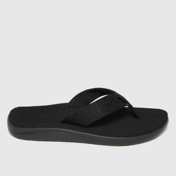 Teva Black Voya Flip Vegan Mens Sandals