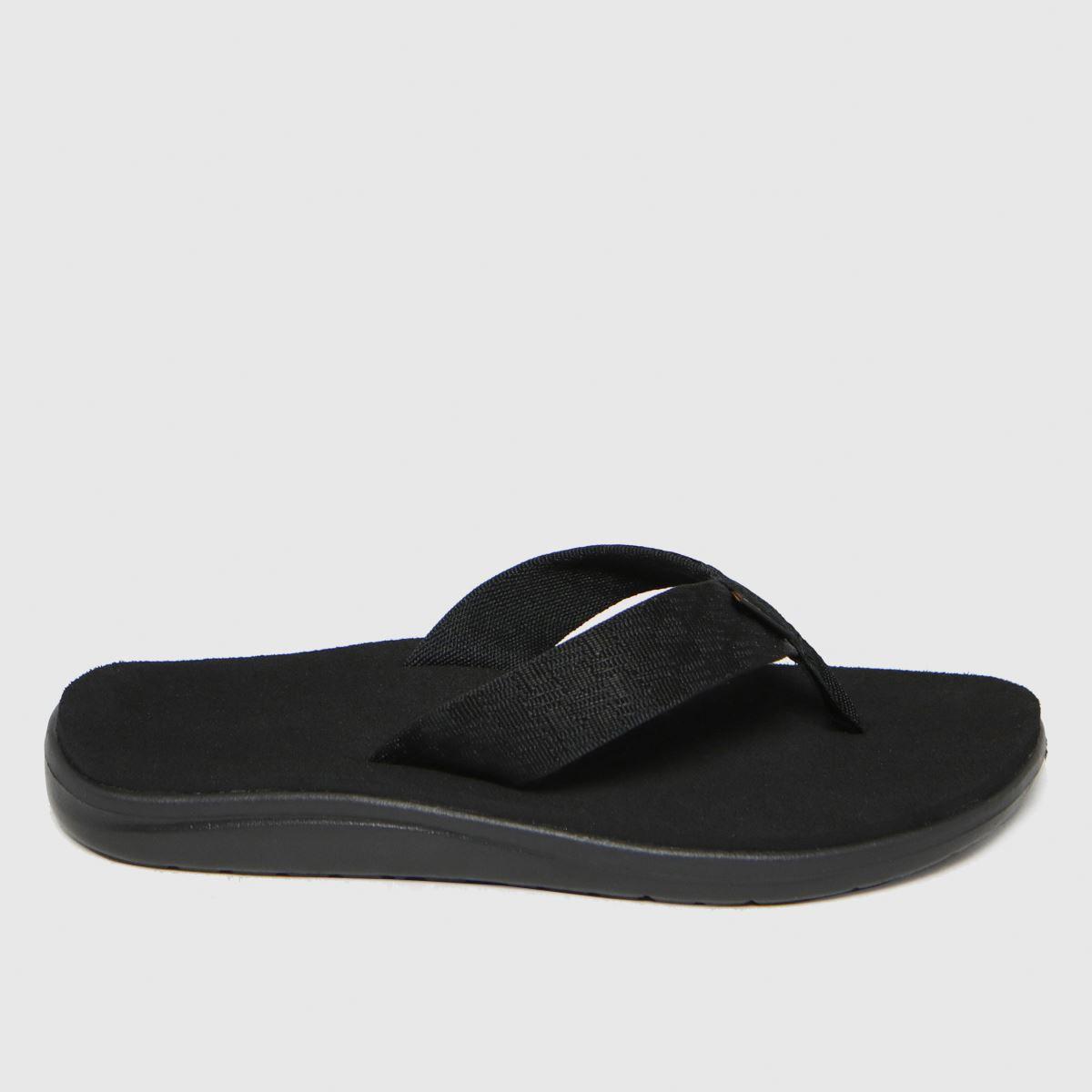Teva Black Voya Flip Vegan Sandals