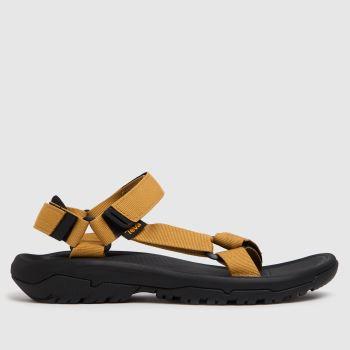 Teva Black & Orange Hurricane Xlt2 Vegan Mens Sandals